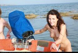 Greek Boating Girls