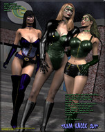 Superheroine Central - Green Specter Vs Team Knockout