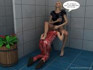 3D Incest Comics - Toilet fuck