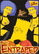 Comics toons The Simpsons Bart Entrapped