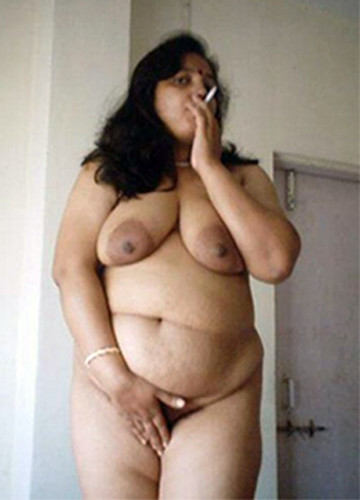 Nude indian girl smoking