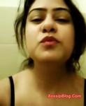 Pakistani Rawalpindi Girlfriend Wafa Showing Big Boobs and Pussy Selfie