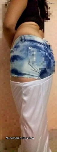 North Indian wife in hot pants Sexy Photos