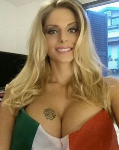 Francesca Cipriani pictures Showgirl and TV presenter promises to strip naked if Italy win Euro 2016