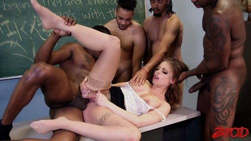 Interracial teacher gangbang the sun
