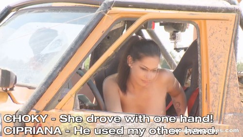 [GroupSexGames] Nesty Cipriana & Geena Gain – Off-Road Sex