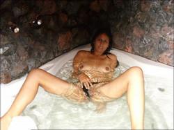 call girl taking bath before sex