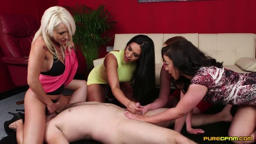 Christina Shine , Hannah Shaw , Princess Paris & Rebecca Brooke – Reverse Bukkake