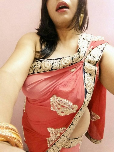Sari Sexy Wife Red Naked In